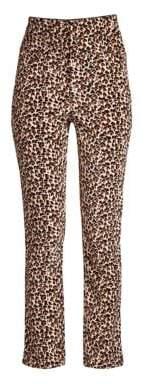 Rebecca Taylor Leopard Velvet Pants