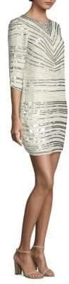 Parker Black Petra Sequin Stripe Dress