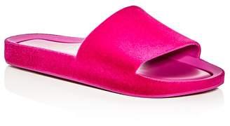 Melissa Flocked Pool Slide Sandals