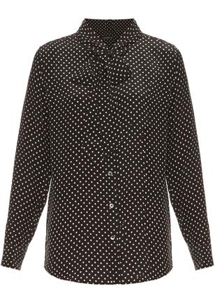 EQUIPMENT X Kate Moss Slim Signature silk blouse $298 thestylecure.com