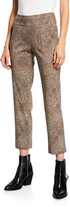 Nic+Zoe Savanna Spot Printed Wonderstretch Pull-On Ankle Pants