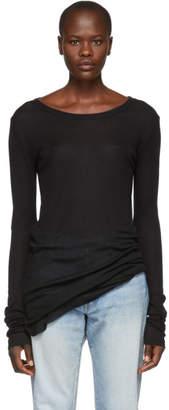 Ann Demeulemeester Black Jersey Crew T-Shirt