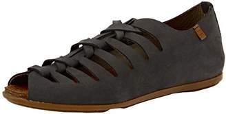 El Naturalista Womens ND52 Stella Khaki Leather Sandals 40 EU