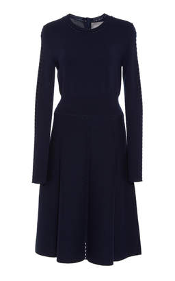 Lela Rose Full Skirt Knit Dress
