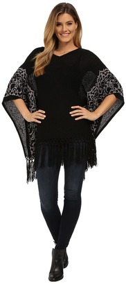 Miraclebody Jeans Felicity Fringed Sweater Top w/ Body-Shaping Inner Shell $120 thestylecure.com