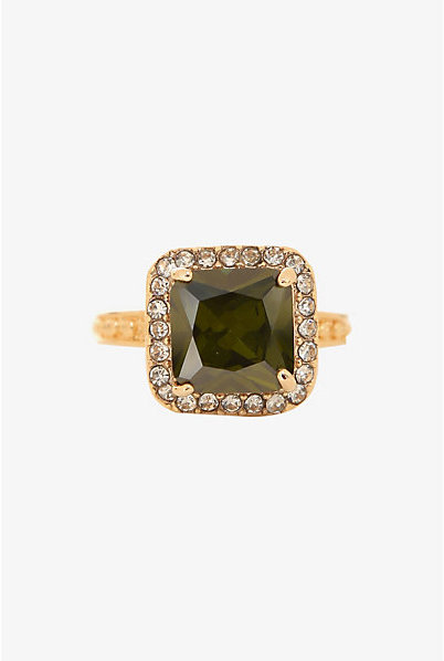 Torrid Olive Princess Cut Ring