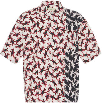 Marni Printed Cotton-Poplin Bowling Shirt