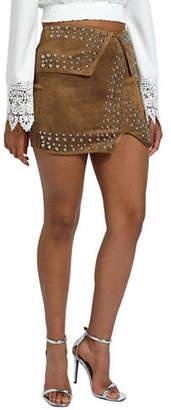 Missguided Studded Mini Skirt