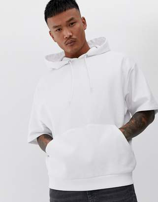 Asos Design DESIGN oversized short sleeve hoodie in white