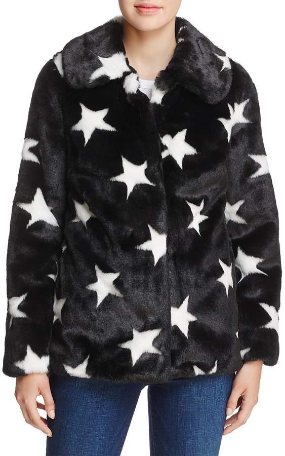 Aqua Faux-Fur Star Coat - 100% Exclusive