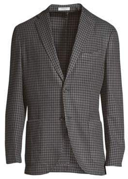 Boglioli Regular-Fit Wool Check Sportcoat