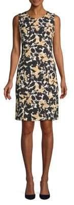 Nipon Boutique Botanical-Print Sheath Dress