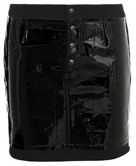 Tom Ford Embossed patent leather miniskirt