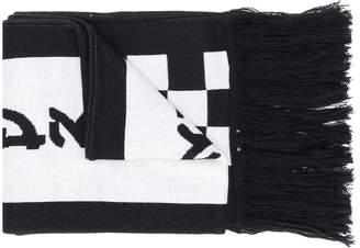 D.Gnak skull pattern long scarf