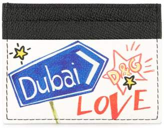 Dolce & Gabbana Dubai graffiti print cardholder