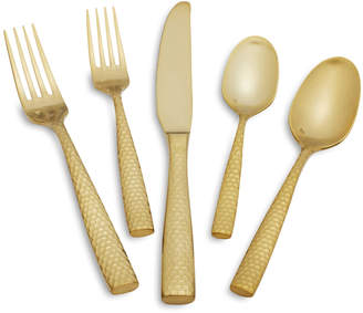 Fortessa Lucca Faceted Gold Flatware