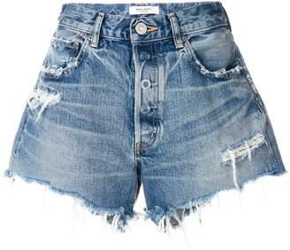 Moussy Vintage distressed denim shorts