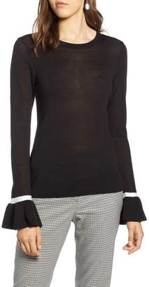 Halogen Ruffle Cuff Sweater