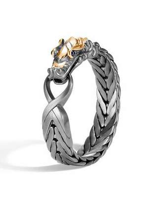 John Hardy Men's Legends Naga Extra-Large Bracelet w/ 18k Gold