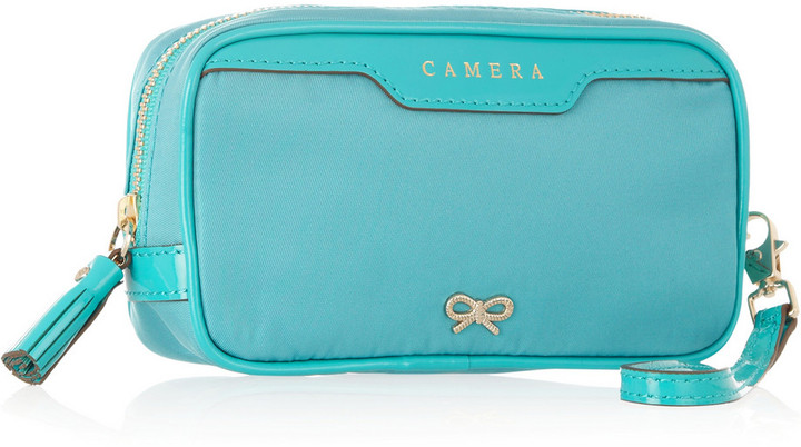 Anya Hindmarch Patent leather-trimmed camera case