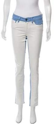 Paige Denim Colorblock Mid-Rise Jeans