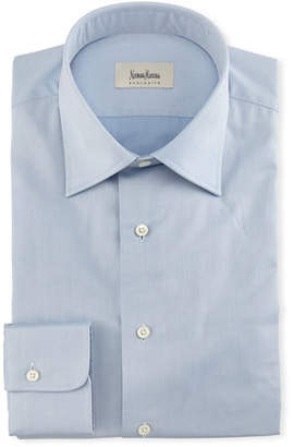 Neiman Marcus Solid Twill Dress Shirt