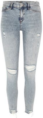 River Island River Island Womens Light wash ripped Molly jeggings