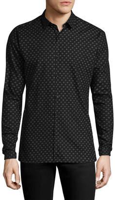 The Kooples Printed Point Collar Sportshirt