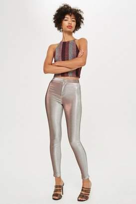 Topshop Pink Shimmer Joni Jeans