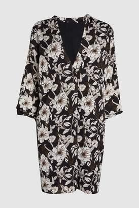 Next Womens Black Floral Printed Tunic