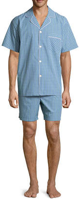 STAFFORD Stafford Men's Notch Collar Short Sleeve/ Short Leg Pajama Set - Big and Tall