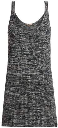 f3667fa5ef66c7 Bottega Veneta Extra Long Chenille Knitted Tank Top - Womens - Grey Multi