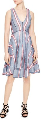 Sandro Chear Striped Mesh Dress $595 thestylecure.com