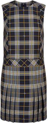 Burberry Sleeveless Check Mini Dress