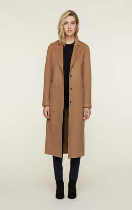 Soia & Kyo IVONNE maxi length double face wool coat with belt