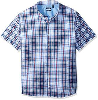 Izod Men's Breeze Plaid Short Sleeve Shirt (Big Tall Slim)