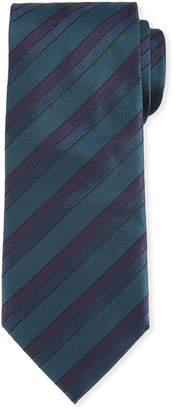 Brioni Silk Tonal-Stripe Tie
