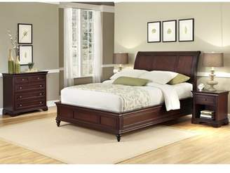 Lafayette Home Styles Queen/Full Sleigh Headboard, Night Stand and Drawer Chest, Rich Cherry