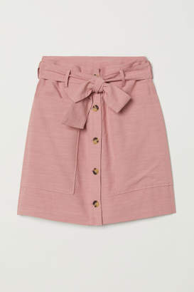 H&M Lyocell-blend Utility Skirt - Pink
