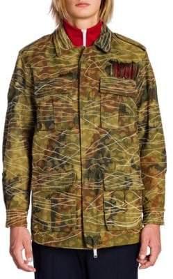 Palm Angels Sahariana Printed Jacket