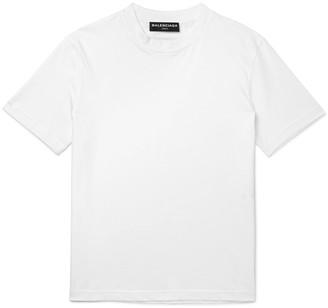 Balenciaga Cotton-Jersey T-Shirt $255 thestylecure.com