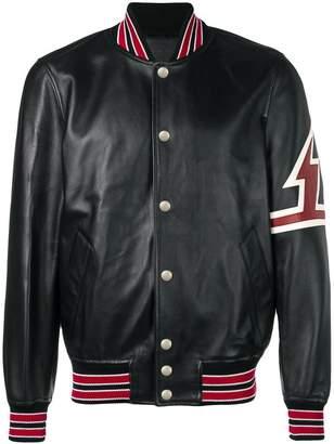 Givenchy contrast-trim bomber jacket