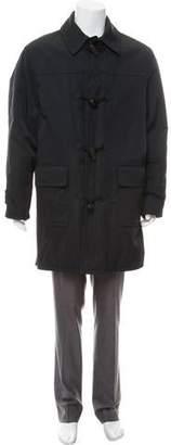 Hermes Woven Wool-Lined Coat