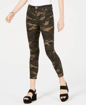 Tinseltown Juniors' Camo-Print Skinny Jeans