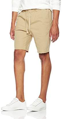 Wood Paper Company Men's Raw Hem Pull-On Drawstring Waist Chino Short