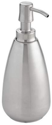 InterDesign Nogu Stainless Steel Soap & Lotion Dispenser Pump, for Kitchen or Bathroom Countertops, Brushed