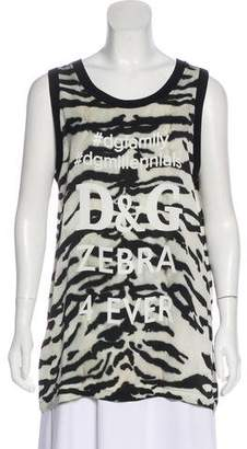 Dolce & Gabbana Graphic Silk Tunic