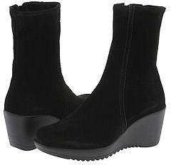 La Canadienne Geralda (Black Suede 001) - Footwear