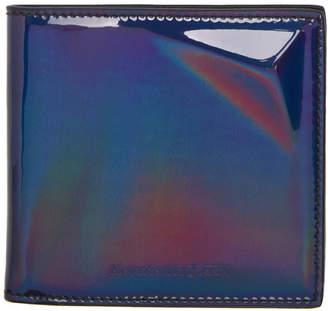 Alexander McQueen Black Iridescent Bifold Wallet