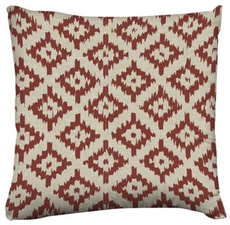 """American Heritage Unbranded Collection """"Burlap Trellis"""" 16"""" Toss Pillow"""